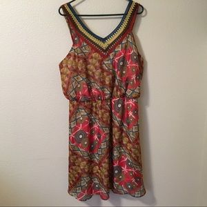 American Rag Summer Tunic Boho Sleeveless Dress